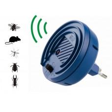 Pestmaster Vario Schutz - Aparat cu ultrasunete anti-gandaci, anti-sobolani , anti-tantari, frecventa reglabila pentru fiecare tip de daunator (40mp)